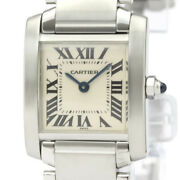 Tank Francaise Sm Stainless Steel Quartz Women And039s No.2774