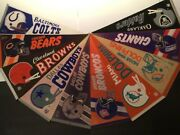 Nfl Football Pennants Assorted Lot - Baltimore Colts - Oakland Raiders