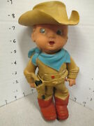 Cowboy Baby 1950s Geo S Lawson Future Products Squeeze Toy Hat Gun Holster