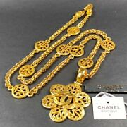 Necklace Coco Mark Vintage Accessories 100 Authentic From Japan K11748