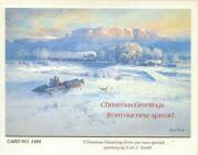 Vintage Christmas Farm Old West Snow Cut Tree Greetings From Our New Spread Card