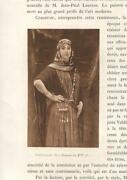 Antique Portrait Of A Pretty Woman Jewelry Middle Eastern Scarf Sepia Art Print