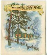 Vintage Christmas Story Voice Of Christ Child Cottage Angel Greeting Mcm Card