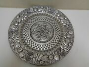 Wilton Armetale Fruit Large Serving Tray Platter Charger 14 1/2