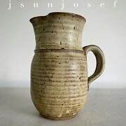 Rare Mid Century Studio Art Pottery Pitcher By Mary Kring Risley