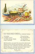 Vintage Swiss Cheese Wine Ham Cooking Crab Meat Seafood Fondue Card Recipe Print