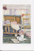 Vintage Helen Downing Hunter Hope Chest Attic Family Album Lithograph Card Print