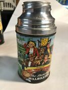 Rare 1963 Beverly Hillbillies Glass Metal Thermos For Metal Tv Show Lunch Box