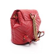 Gg Marmont Backpack Mini Razor Red Quilting 528129 Previously No.9991