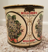Milliken's Antique Advertising Talcum Container Counter Country Store Display