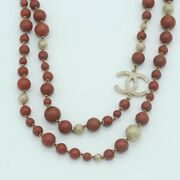 Necklace Ball Stone Coco Mark Vintage 100 Authentic Japan K12027