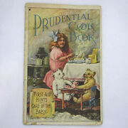 Antique 1910/1911 Prudential Insurance Cook Book Pamphlet Cover Art By W Meyner