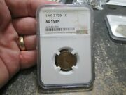 1909 S Vdb Lincoln Wheat Cent In Ngc Au 55 Brown About Uncirculated Condition