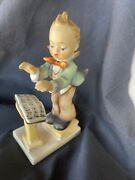 Mi Hummel Hum 826/i 1515 Little Meastro With Bear From Steiff With Box And Cert