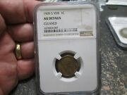 1909 S Vdb Lincoln Wheat Cent In Ngc About Uncirculated Condition