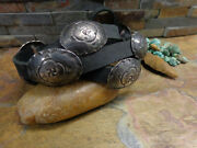1 1920s Navajo Silver Whirling Log Concho Belt Hat Band Buckle Pawn Fred Harvey