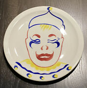 """Union Pacific Railroad 8"""" Circus Pattern Child's Dining Car Plate Syracuse China"""