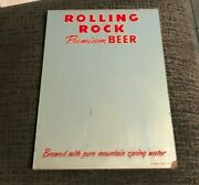 Rare Early Rolling Rock Beer Glass Mirror Sign Latrobe Brewing Co Latrobe Pa