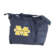 Vintage 90s Distressed University Of Michigan Spell Out Tote Bag Multi-pocket