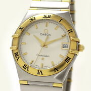 Omega Menand039s Watches Constellation Twill Silver Gold Quartz 1312.30 No.7546