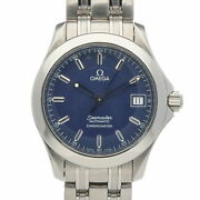 Omega Ss Wristwatch Seamaster Silver Blue Mens Fashionable Itand039s Cool. No.8728