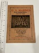 Bx130 Aug 20 1927 Us Marines Basketball Game Score Card Chicago Il