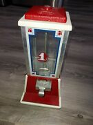 Sale Vintage Dean Penny, 1 Cent Candy Or Peanut Machine Red And White Works
