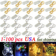 6.6ft Battery Operated Mini Led Copper Wire String Fairy Lights Xmas Decor Lots