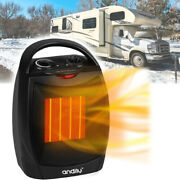 Rv Portable Electric Space Heater Small With Thermostat Indoor Camper House Safe