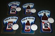 Lot Of 5 Mint Pabst Blue Ribbon Beer 1960's Wisconsin Map Cooler Stickers