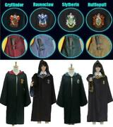 Harry Potter Hogwarts Robe Cloak Scarf Adult Child Cos Costumes Party Halloween