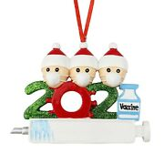2021 Personalized Ornaments Vaccine Mask Christmas Gift Family Tree Decorations