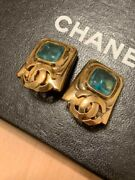 Earrings Coco Mark Vintage Accessories 100 Authentic Japan K12061