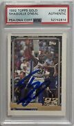 Shaquille O'neal Signed Magic 1992 Topps Gold 362 Rookie Card Psa/dna Shaq Auto