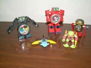 Vintage Monsters And Robot Wind Up Toy Lot Space Ship Transforming Dice Machine