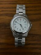 Vintage Victorinox Swiss Army Classic 1884 Officer Stainless Steel Mens Watch