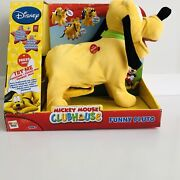 Disney Junior Micky Mouse Club House Funny Pluto Unopened