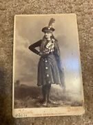 Rare Original Cabinet Card Of Girl Kate Macpherson World Champion Many Medals