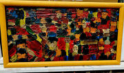 1960s New York Expressionist School Abstract Oil Painting Signed Hoffman