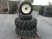 Complete Set Of R4 Tires And Rims For New Holland Workmaster 37 Tractors