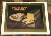 Rare 1924 Pabst Cheese Prohibition Cardboard Sign Pabst Beer Brg Milwaukee Wi