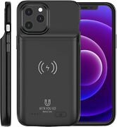 Battery Case For Iphone 11 Pro Max Support Qi Wireless Charging 7000mah Extra Ch