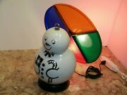 Vintage Ferry Frosty The Snow Man Christmas Tree Color Wheel Rare