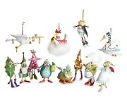 Patience Brewster - Mini 12 Days Of Christmas Ornaments Complete Set 2012