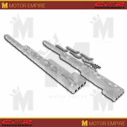 Flamed Chrome Billet Aluminum Wire Loom Set Fits Universal Chevy Ford