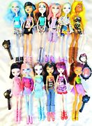 Lot Of 12 - Monster High Fully Dressed With Shoes Loose Dolls And Accessories S-1