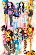 Lot Of 12 - Monster High Fully Dressed With Shoes Loose Dolls And Accessories S-2