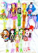 Lot Of 12 - Monster High Fully Dressed With Shoes Loose Dolls And Accessories S-3