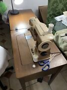 Vintage Singer 401a Slant O Matic Sewing Machine In Cabinet