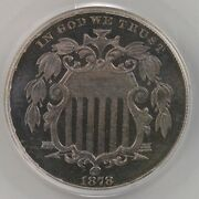 1878 Shield 5c Pcgs Cac Certified Pr67 Old Green Label Holder Premium Surfaces